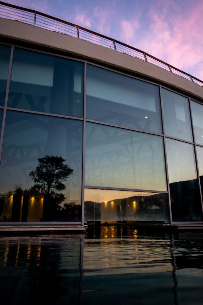 Solnedgang i Toskana og spa-avdelingen på Argentario Golf Resort & Spa